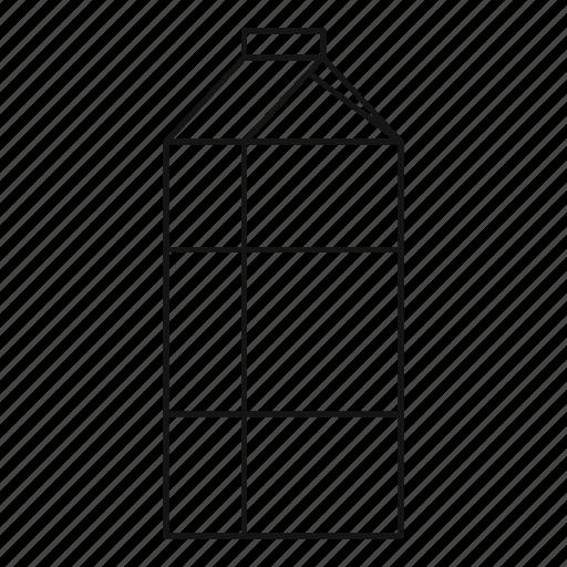 blank, box, carton, line, milk, outline, pack icon