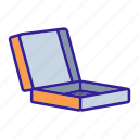 box, fast, food, packaging, pizza, restaurant icon
