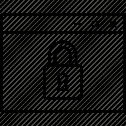 browser, control, internet, locked, navigation, parental icon