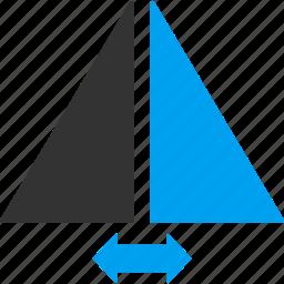 change, exchange, flip horizontally, flipping, horizontal, mirror, swap icon