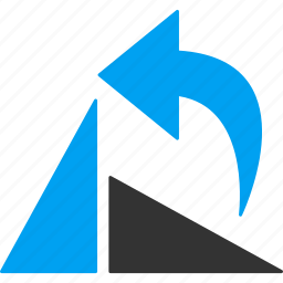 arrow, ccw direction, reload, repeat, rotate left, rotation, undo icon