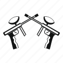 game, gun, marker, paint, paintball, profile, weapon icon