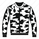 camouflage, cloth, clothing, fashion, jacket, textile, uniform icon