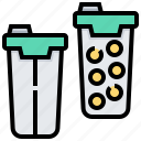guppies, pack, paintball, pods, tubes icon