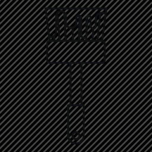 brush, line, outline, paint, paintbrush, tool, work icon