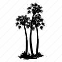 arbor, island, palm, palm tree, tree, tropical icon