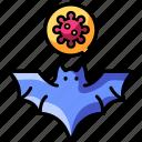 contagion, disease, virus, pandemic, covid-19, infection, bat icon