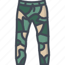 camouflage, clothes, jeans, pants, shorts icon