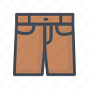 clothes, jeans, pants, shorts icon
