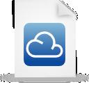 file, document, cloud