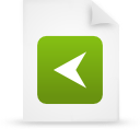 document, file, green, paper icon