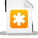 document, file, orange, paper icon