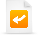 document, file, orange, paper icon