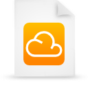 cloud, document, file, orange, paper icon