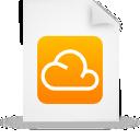 file, document, paper, orange, cloud