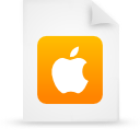 apple, document, file, orange, paper icon