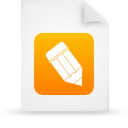 file, document, paper, orange