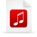 document, file, paper, red icon