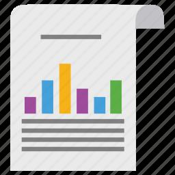diagram, document, ecommerce, graph, marketing, paper, scheme icon