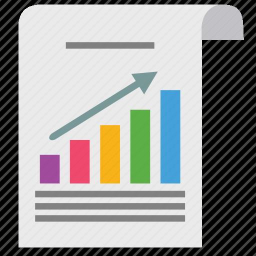 analytics, chart, document, graph, marketing, paper, seo icon