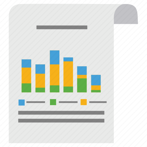 analytics, business, chart, diagram, document, paper, scheme icon