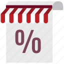 discount, document, ecommerce, percentage, sale, shop, store icon