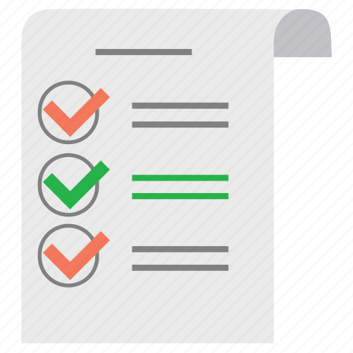 check, check out, document, list, note, paper, report icon