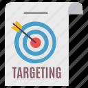 arrow, document, goal, marketing, seo, target, targeting