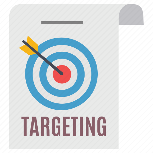 arrow, document, goal, marketing, seo, target, targeting icon