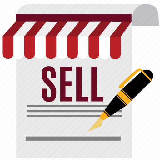 document, marketing, pen, sell, sheet, shop, store icon