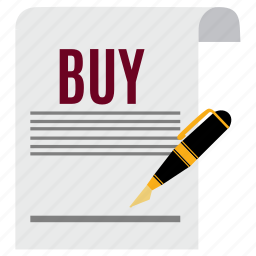 business, buy, document, ecommerce, file, paper, signature icon