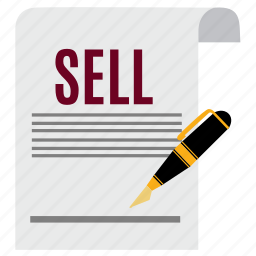 business, document, ecommerce, file, paper, sell, signature icon
