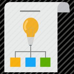 business, chart, creativity, idea, marketing, productivity, strategy icon