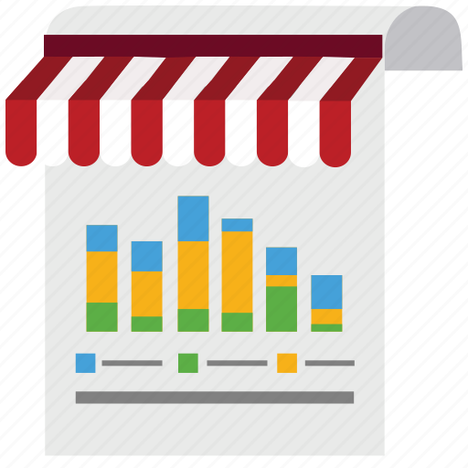 chart, diagram, document, graph, marketing, shop, store icon