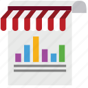 business, diagram, ecommerce, graph, marketing, shop, store icon