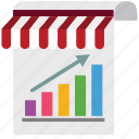 analytics, chart, marketing, paper, seo, shop, store