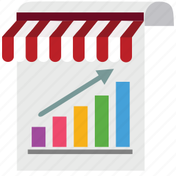 analytics, chart, marketing, paper, seo, shop, store icon