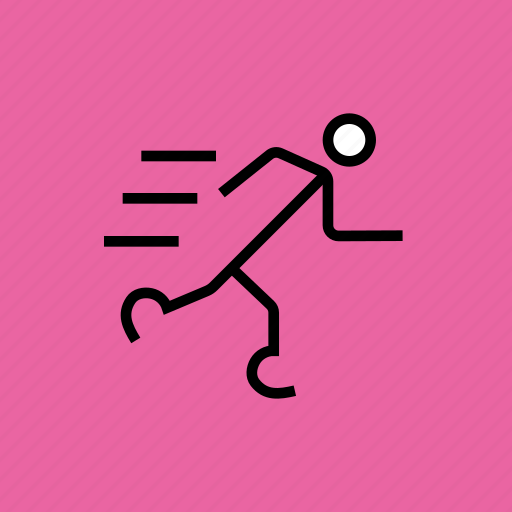 athletics, olympics, paralympic, paralympics, prosthetic, runner, running icon