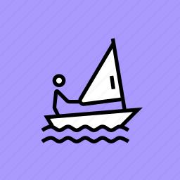 games, olympics, paralympic, paralympics, sail, sailing, yacht icon