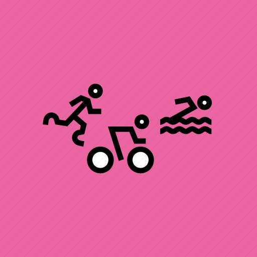 athletics, cycling, olympics, paralympic, paralympics, swimming, triathlon icon