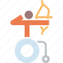 archery, arrow, disabled, olympics, paralympic, paralympics, wheelchair icon