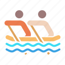 disabled, games, olympics, paralympic, paralympics, rowing, water icon