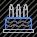 cake, candle, celebration, parentsday, sweet icon