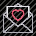 day, envelope, loveletter, message, parents