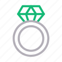 diamond, engagement, jewelry, marriage, ring icon