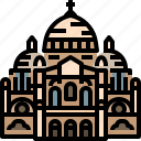 basilica, catholic, church, france, paris, sacre icon