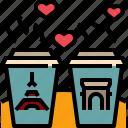 cafe, coffee, cup, paris, romantic, sweet