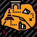 city, guide, map, paris, travel