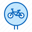 bicycle, bike, lane, path icon