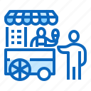 cream, fast, food, ice, street, trolley icon